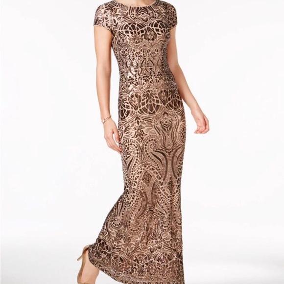 b2c2b4c94e7e Betsy & Adam Dresses | Betsy Adam Sequined Gown | Poshmark